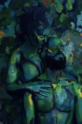 Bodypainting - green couple by mihepu