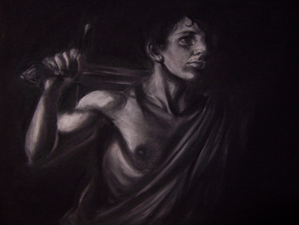 Charcoal Caravaggio by kentuski
