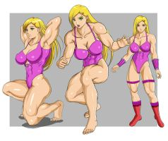The wrestler of pink by Issei06