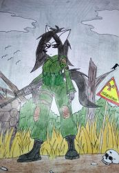 stalker Emily (with background) by FurNaz