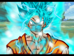 SSJ Blue Son Goku lineless by Evil-Black-Sparx-77