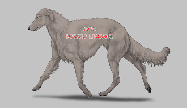 FREE Borzoi Lineart by Silver-Stormfront