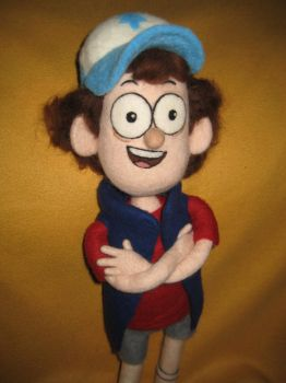 My Needle Felted Dipper Pines Plushie by CatsFeltLings