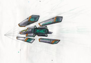 Spaceship sketch 01 by N1cn4c