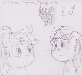 Two Ponies and a Castle (Sketch) by ILM126