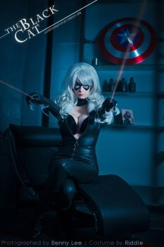 BLACK CAT: Caught in Action by the Spider by Benny-Lee