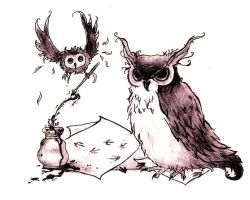 owls by muffinsforkanami
