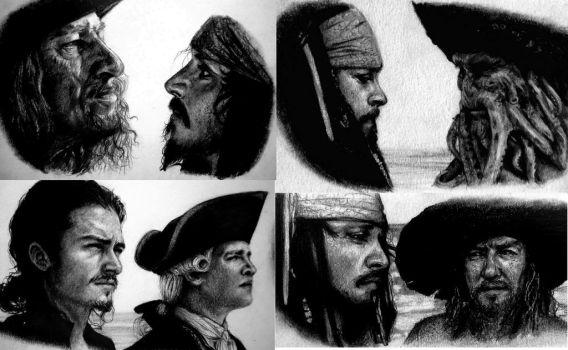 Pirates of the Carribean Portraits by Lauryn-M