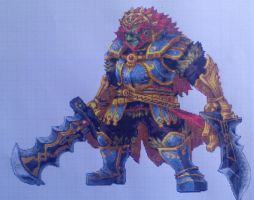 Pixel art Hyrule Warriors: Ganondorf by PaintPixelArt