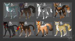 Feline adoptables OPEN for 6# and 7# by Kocurzyca
