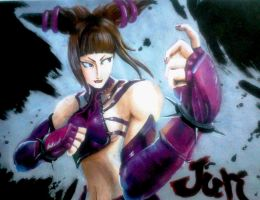 Juri street fighter by chacrawarrior