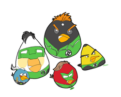 Green Lantern Angry Birds by Ladytalon1
