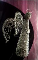 Wire wrapped Angel sculpture by Faeriedivine