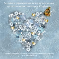 heart with gold WATERMARKED by GlynJA