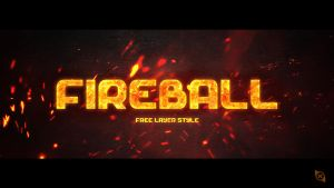 Fireball Layer Style -FREE- by Xiox231