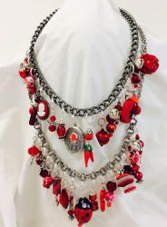 Red Charm Necklace by mintdawn