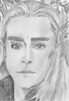 aceo Lee Pace as Thranduil The Hobbit by BethannNg