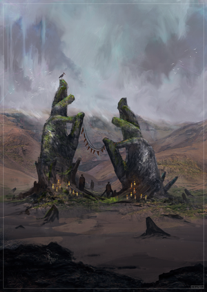 Old Monument to a Dead Deity by Czepeku