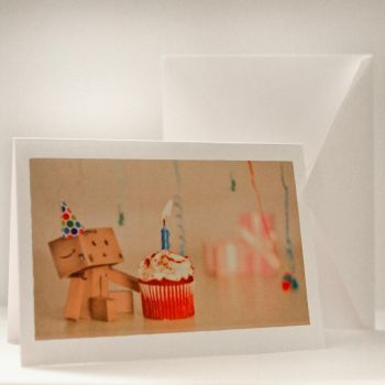 Danbo Greeting Card by BryPhotography
