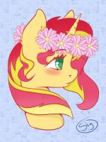 Flower crown Sunset Shimmer by xSnowdropx