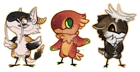 Animal Crossing Chibis [$5] by VexVyrus