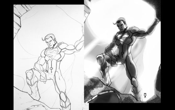 Supes before and after by LORDNEPHALIM