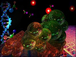 ATOMS  CHAINS by DorianoArt