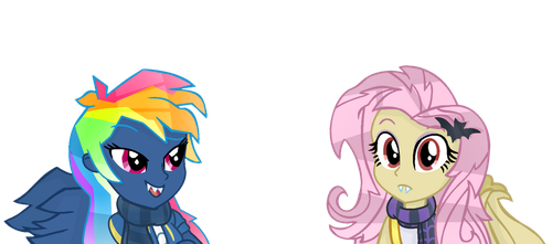 MLP- EG Evil Pie Hater RD And FlutterBat. by YayCelestia0331