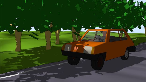Car and Trees Test by miggyb89