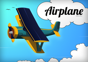 Airplane vector by Silence-sk