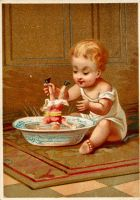 Victorian Advertising - Bath Time by Yesterdays-Paper