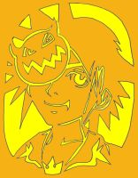 Sora KH pumpkin design by Allia