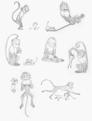 Mikey and Snowball - Sketches by TheJourneyoftheHeart