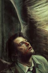 Castiel - Everything beautiful bleeds by apfelgriebs