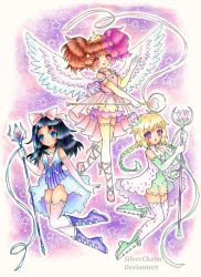 C: Magical Girl Trio by SilverChaim