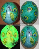 Peacock Ostrich Egg by HDevers