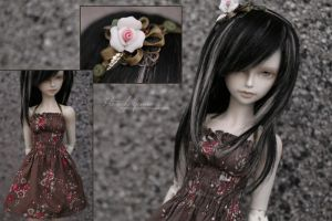 Brown summery dress by yenna-photo
