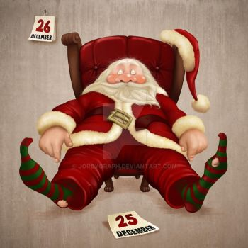 Santa Claus tired by jordygraph