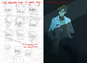 Redrawing my old OC by Gameaddict1234