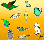 Bird stickers by xXxelyxXx