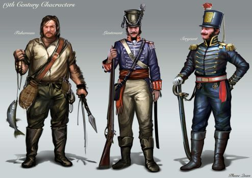 19th Century Characters by nkabuto