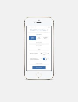 Ios App Signup by tempeescom