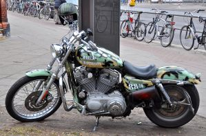 HD Sportster camouflage by cmdpirxII