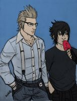 Ignis and Noctis Sketch by Dobermutt