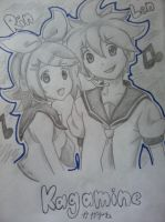 Rin and Len by XSlappyTheDummyX