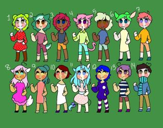 Adoptables open [6/14] by amazingbailey101