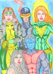 X Men  colored 3 by GordonAlyx