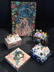 Decoden boxes and Ipad air case by raccoon-eyes