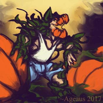 Patreonsketch: Pumpkinwolf by Ageaus