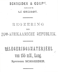 155 mM., Lang. Systeem SCHNEIDER (1897 Manual) by ColorCopyCenter